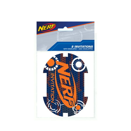 Nerf Party Invitations, 8ct