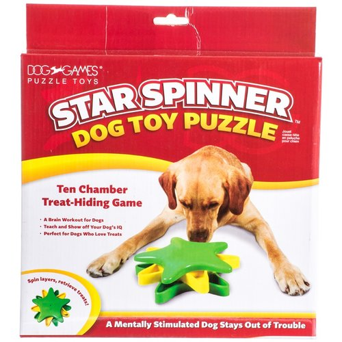 Dog Games Star Spinner Dog Toy Puzzle Game 10-in L x 10-in W x 3-in H