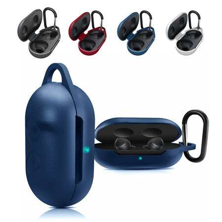 EEEKit Carrying Case for Samsung Galaxy Buds 2019, Full Body Protection Silicone Case with Anti-Lost & Shockproof, Newest Clamshell Design for Galaxy Buds 2019 (450 Carrying Case)