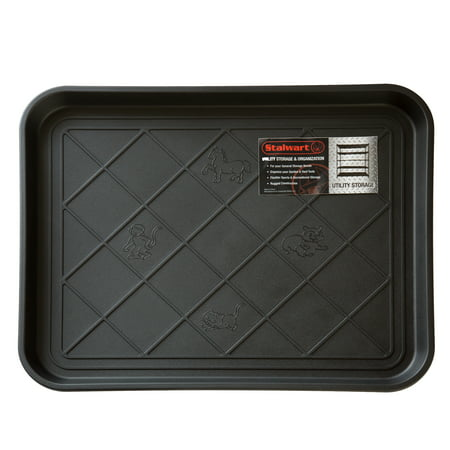 All Weather Boot Tray - Water Resistant Plastic Utility Shoe Mat for Indoor and Outdoor Use in All Seasons by Stalwart (Indianapolis Colts Utility Mat)