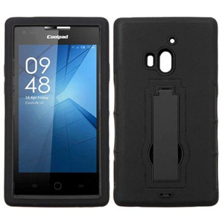 Insten Symbiosis Skin Dual Layer Rubber Hard Case w/stand For Coolpad Rogue - - Rogue Runner
