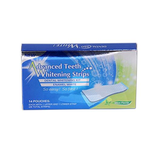 Sparkling White Smiles Advanced Teeth Whitening Strips Value Pack | 28 Minty Tooth Whitener Strips, 14 Upper & 14 Lower | Easy to Use, Safe & Effective - Fast Results for a Brighter, Whiter Smile