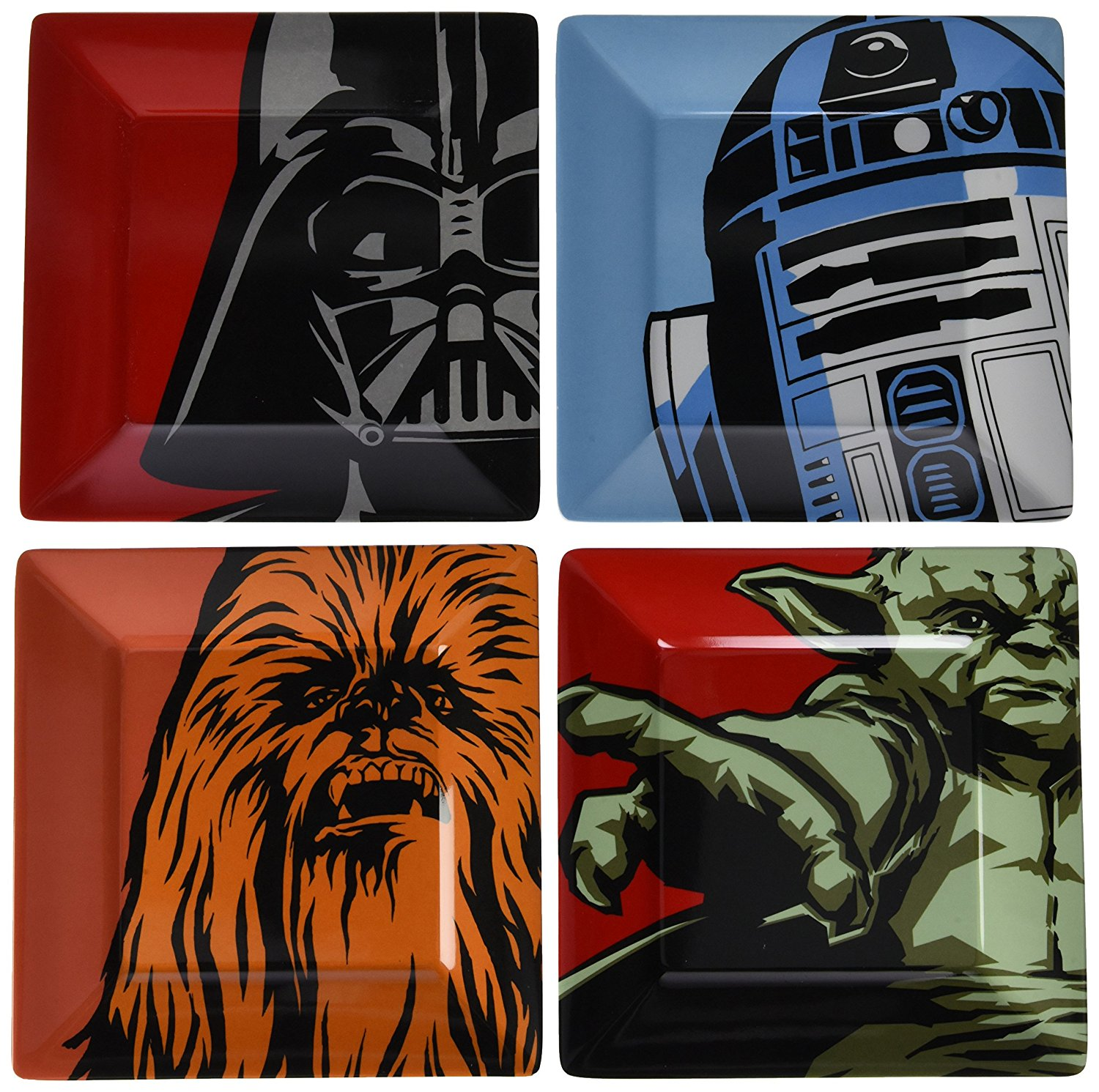 Star Wars Plate Set (Melamine)/Melamine 4PK Classic Characters, Official Star Wars Product By Underground Toys