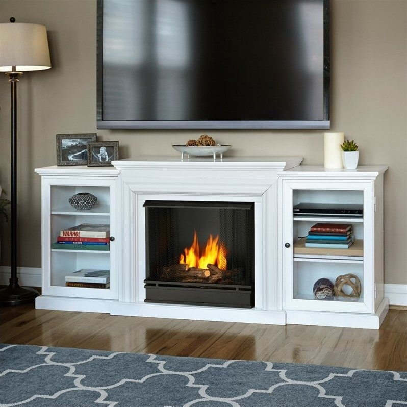 Real Flame Frederick Gel Fuel Fireplace in White