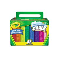 An Item of Crayola Washable Sidewalk Chalk, 48 Assorted Bright Colors, 48 Sticks/Set, Pack of 1 [Bulk Qty Discount Coupon : Christo]
