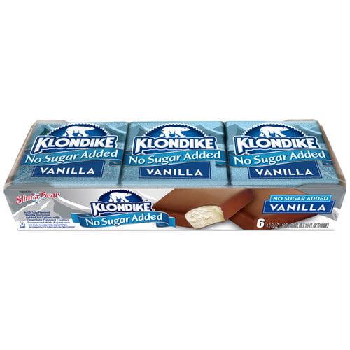 Klondike Vanilla No Sugar Added Ice Cream Bars, 4 oz, 6 count
