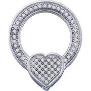Gold and Diamonds PF2428-W 0.18CT-DIA CIRCLE PENDANT- Size 7