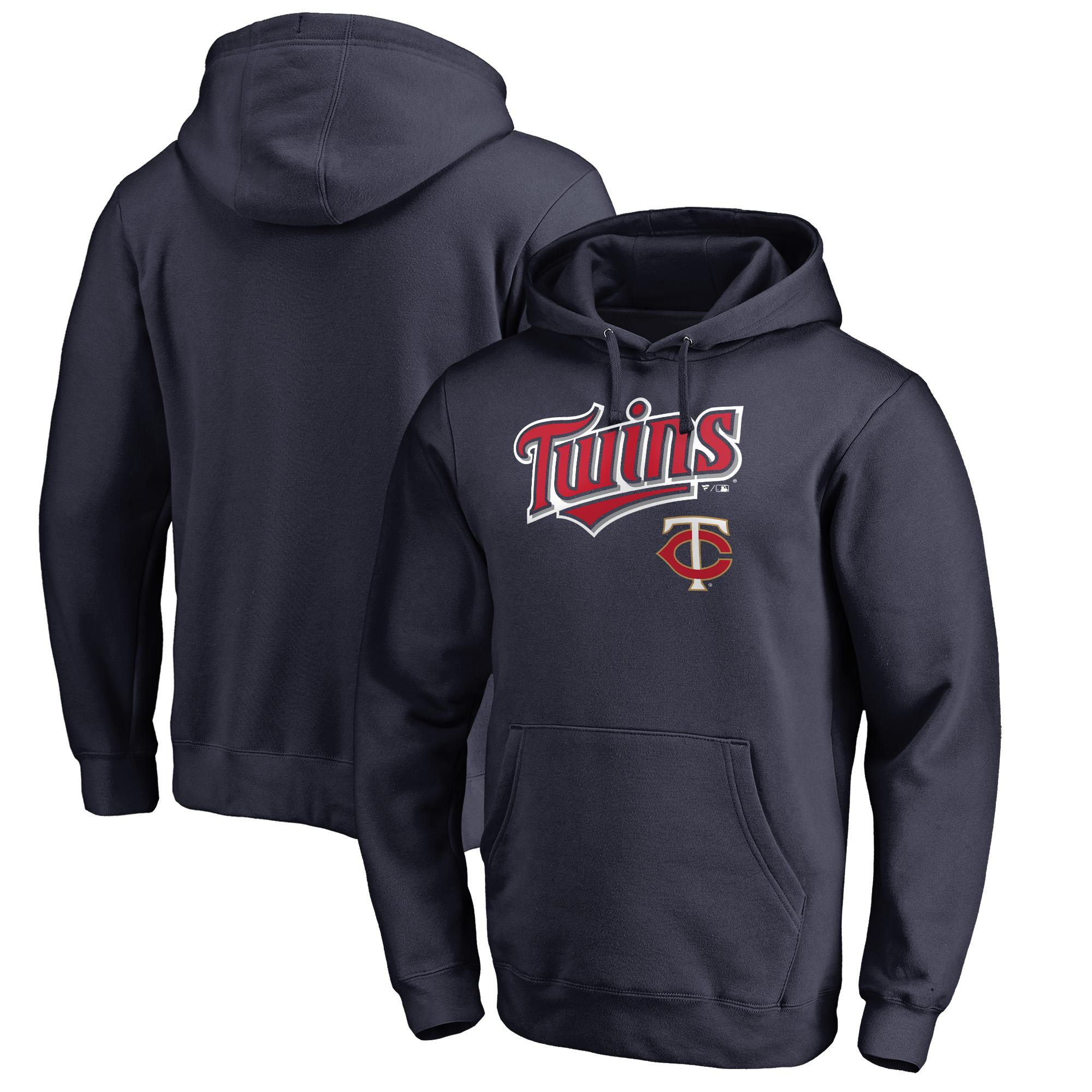 Minnesota Twins Fanatics Branded Big & Tall Team Lockup Pullover Hoodie - Navy