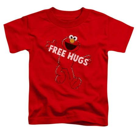 Toddler: Sesame Street- Elmo Free Hugs Apparel Baby T-Shirt - Red