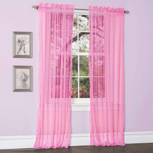 Lola Hot Pink Window Curtains, Pair