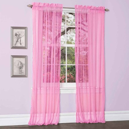 lola hot pink window curtains pair