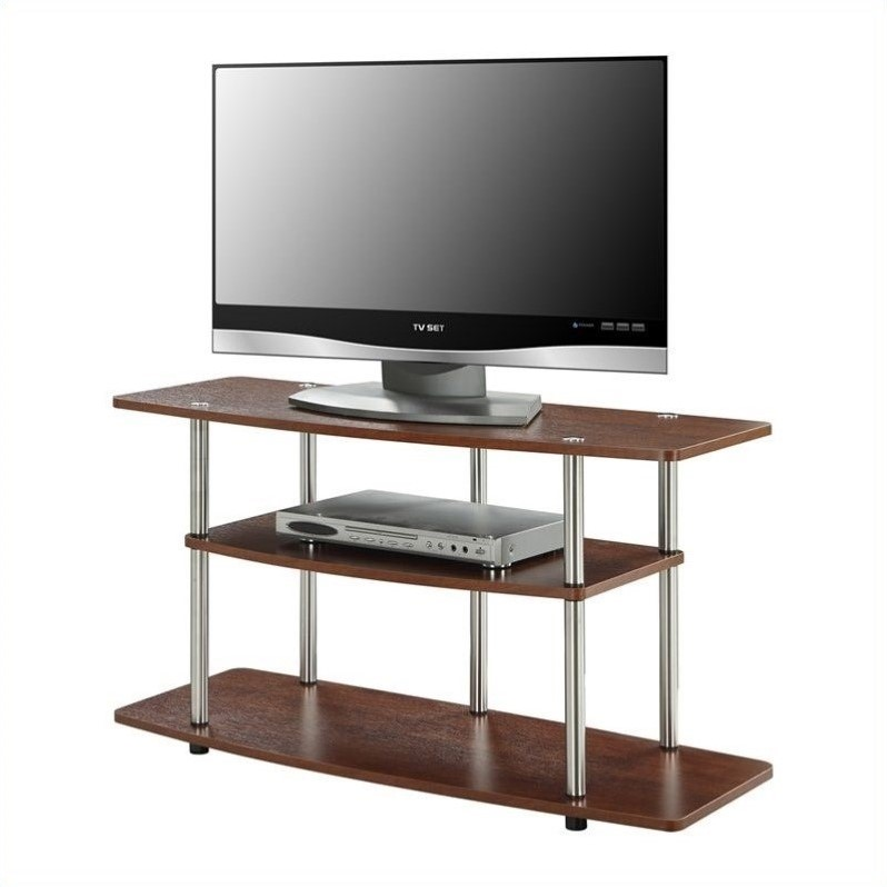 Pemberly Row 3 Tier Wide TV Stand - Cherry