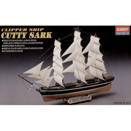 Cutty Sark Model Kit, Finely engraved hull and deck detail simulates copper plating and wood texture By Academy Ship from US (Dicke Mode)