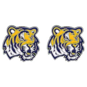 LSU Enameled Stud Earrings (F)