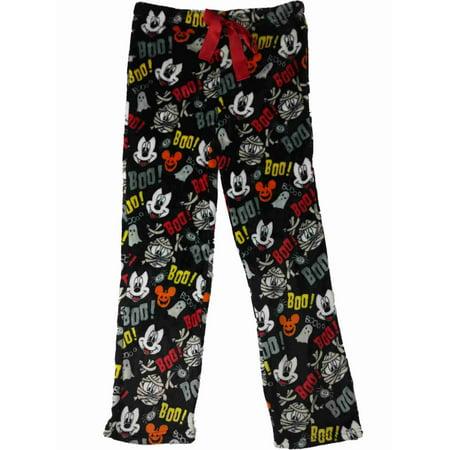 Adult Mickey Mouse Onesie (Disney Womens Mickey Mouse Mummy Sleep Pants Vampire Fleece Pajama)