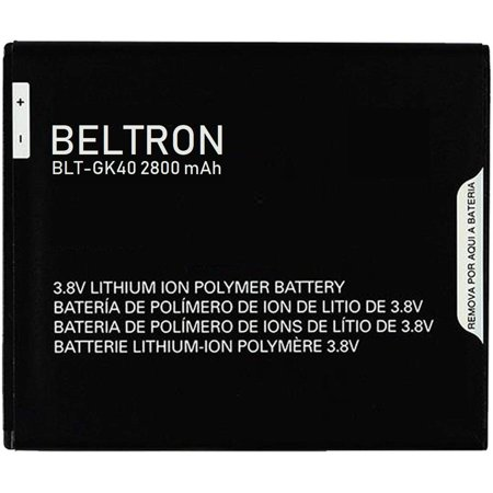 New 2800 mAh BELTRON Replacement Battery for Motorola G4 Play XT1607 - GK40 ()