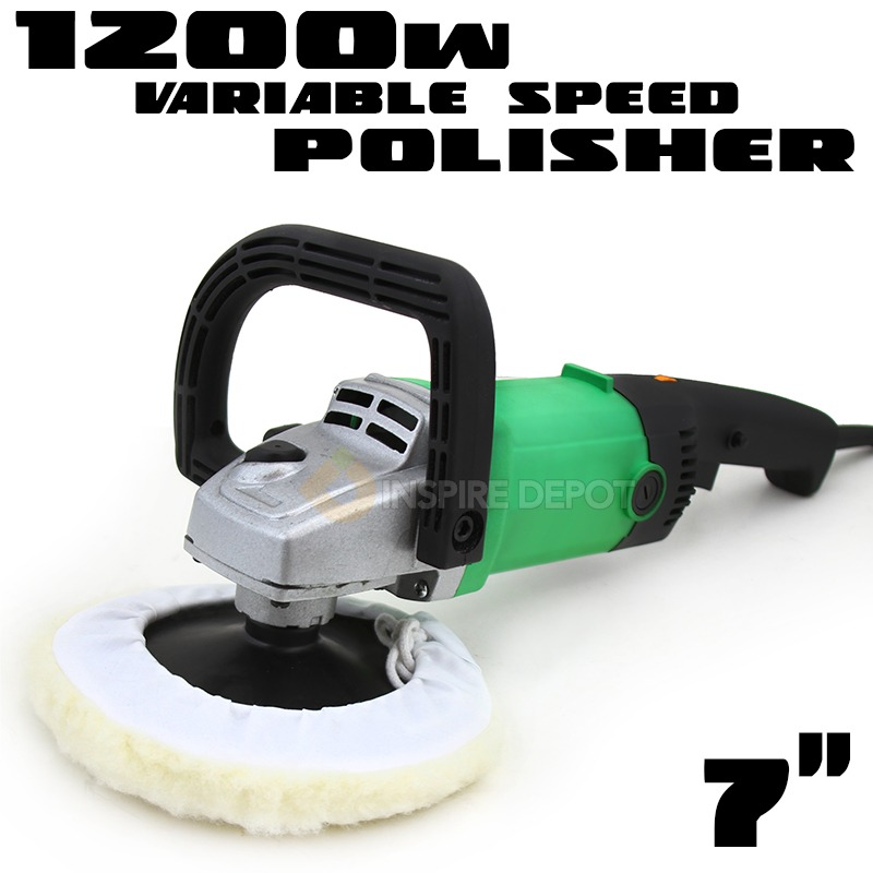 "7"" 110V 6 -Speed Electric Car Boat Paint Polisher Buffer Sander with Pad"