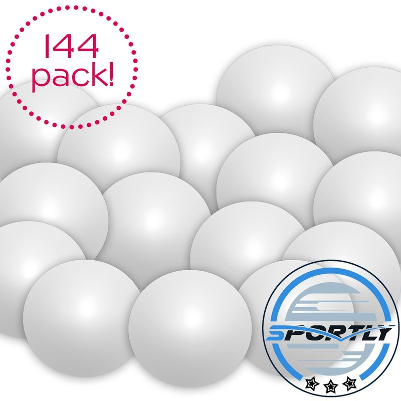 Beer Pong Balls, 144 pack, 38mm, Great for Table Tennis & Ping Pong Tournaments, Carnival Games, Parties, By Sportly®