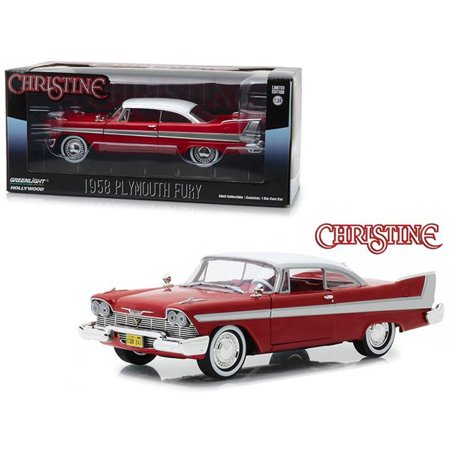 1958 Plymouth Fury Red Christine (1983) Movie 1/24 Diecast Model Car by Greenlight