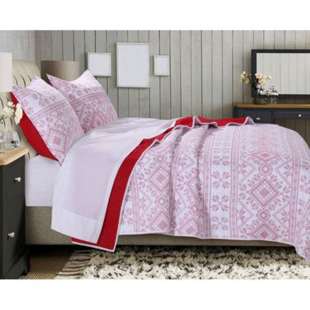 Holly Cross Stitch Quilt by Greenland Home Fashions