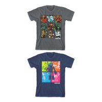 Roblox Boys Checkered Fighters & Color Grid Graphic T-Shirts Sizes 4-18