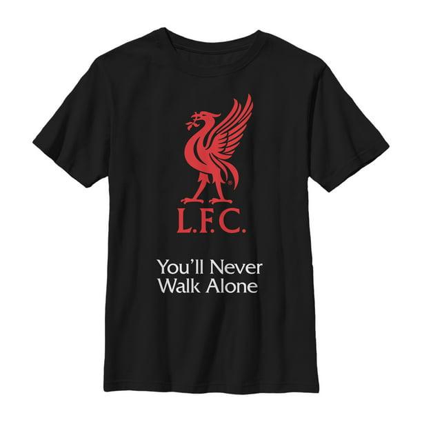 Liverpool Fc Boy S Liverpool Football Club Bird Logo Never Walk Alone T Shirt Walmart Com Walmart Com