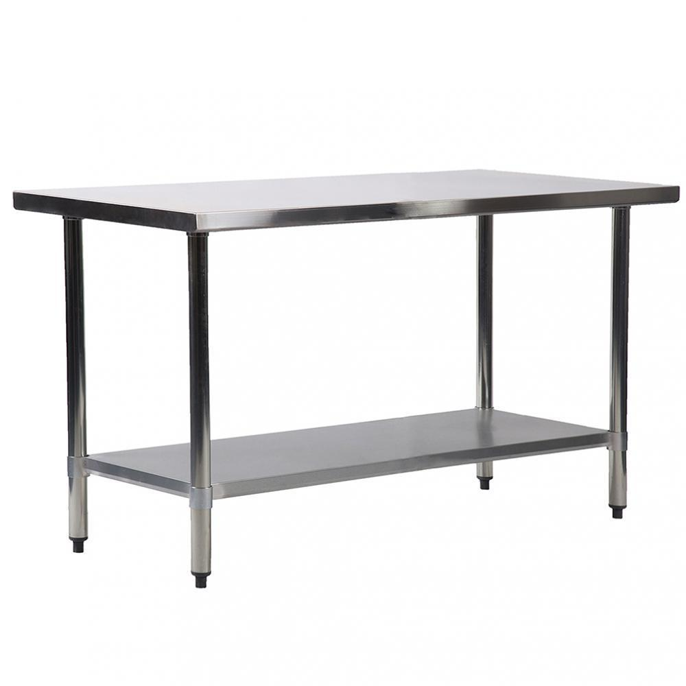 Fdw Stainless Steel Kitchen Prep And Work Table 60 X 24 X 35 Walmart Com Walmart Com