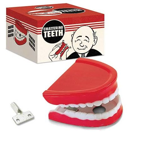 Wind-up Chattering Teeth Novelty April Fools Classic Gag Toy, An ORIGINAL in gags and jokes By American Science Surplus - Jokes And Gags Toys