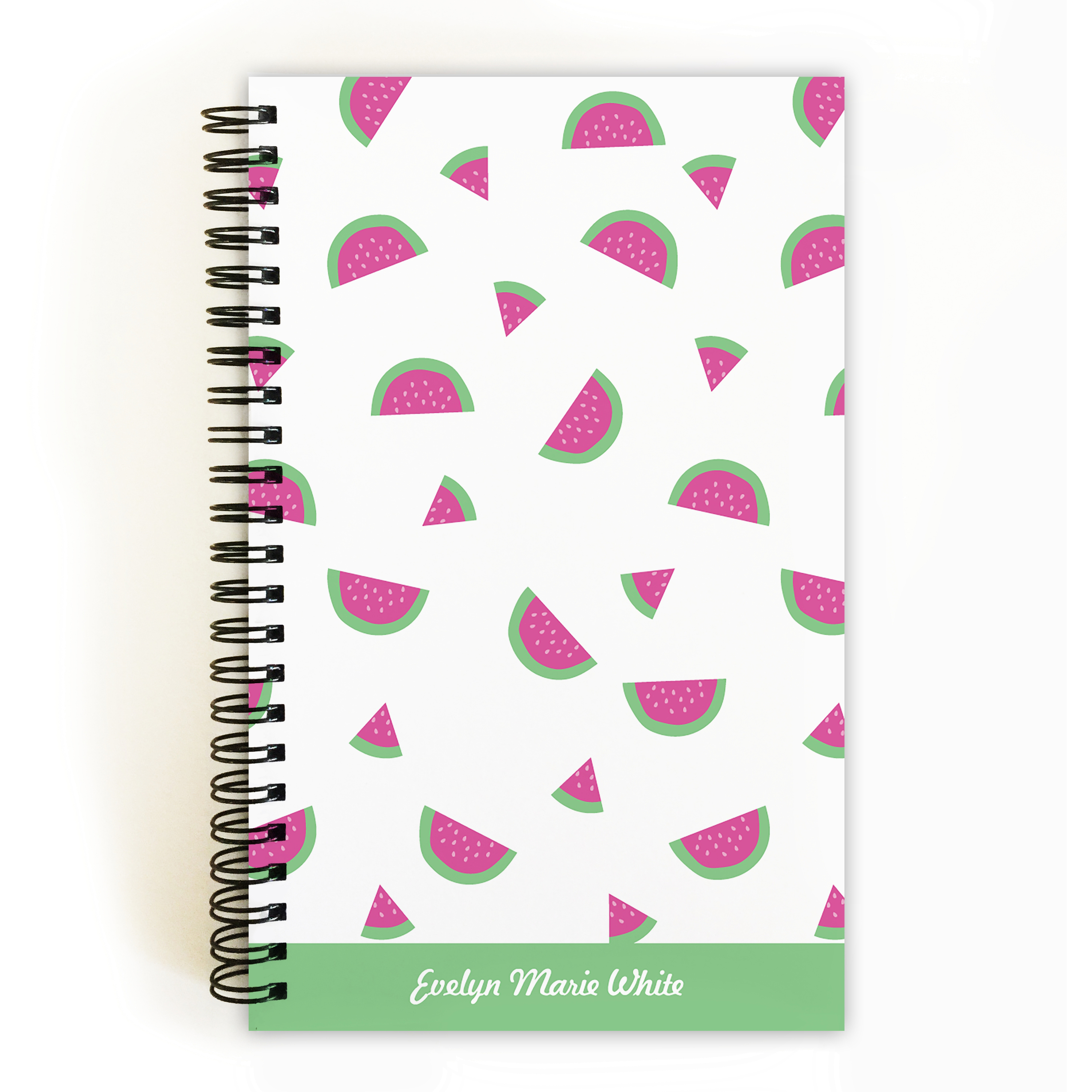 Watermelon Madness - Personalized 5 x 8 Notebook