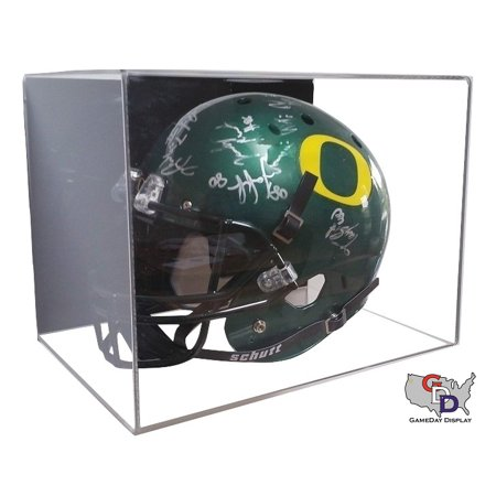 Acrylic Wall Mount Full Sized Football Helmet Display Case by GameDay Display ()