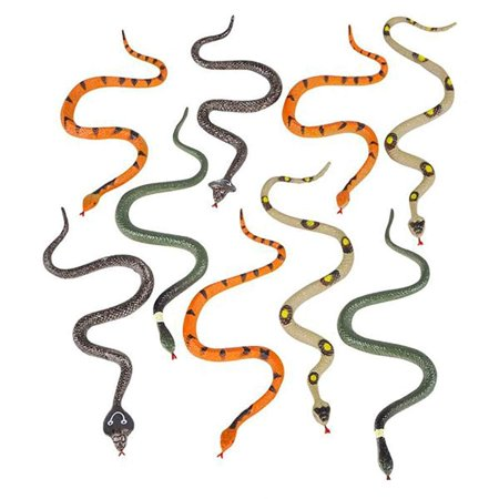"Halloween Hen Party Ideas (6"" Assorted Small Hissing Snakes – 24 Pieces, Practical Joke, Venue Prop, Party Supply, Gift Ideas, Magic Show, Carnival Game Prizes, Squirrel Bird Deterrent, Halloween Apparel, Bath Time)"