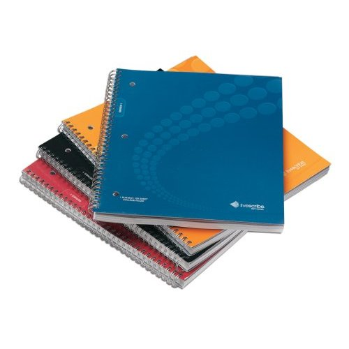 "Livescribe Single Subject Spiral Notebook - 100 Sheet - College Ruled - Letter 8.5"" x 11"" - 4 / Pack"