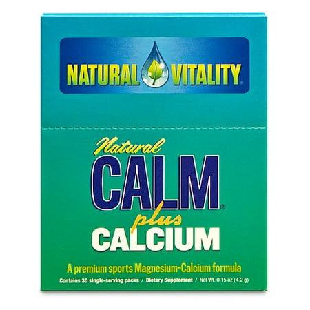 Natural Vitality Natural Calm Plus Calcium Dietary Supplement  30 Count