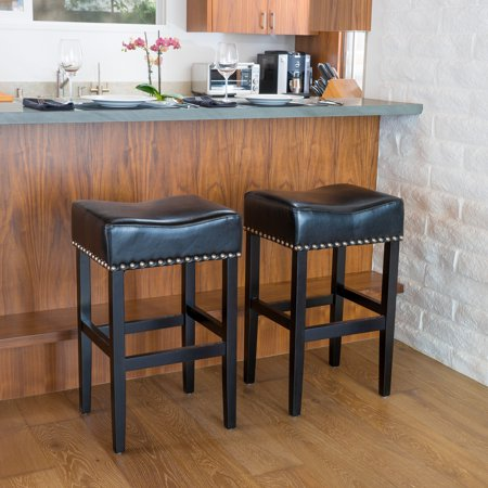 Super Angela Backless Leather Bar Stool Set Of 2 Gmtry Best Dining Table And Chair Ideas Images Gmtryco