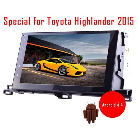 2015 Toyota Highlander Models Android 4 4 Kitkat Car Gps Navigation Autoradio Video Player 10 2 Inch Hd Capacitive Touch Screen Support Built In Wifi Bluetooth Am Fm Radio 3D Navigation Map