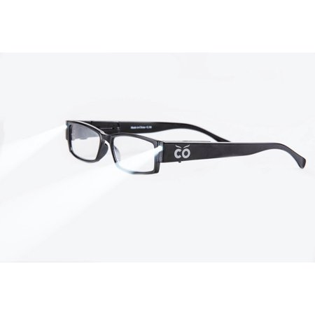 +1.5 Power Strength Eyeglass LED Reading Glasses Black S Optic By Finess - Glasses With Led