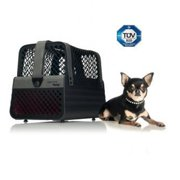 Schoochie Pet 10008 Pro Line Penthouse Montreal Dog Crates, Black & Grey