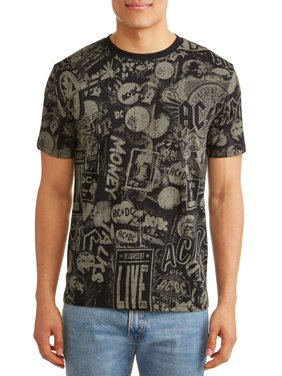 7331e019 Product Image AC/DC All-Over Print Men's Short Sleeve Graphic T-Shirt, Up