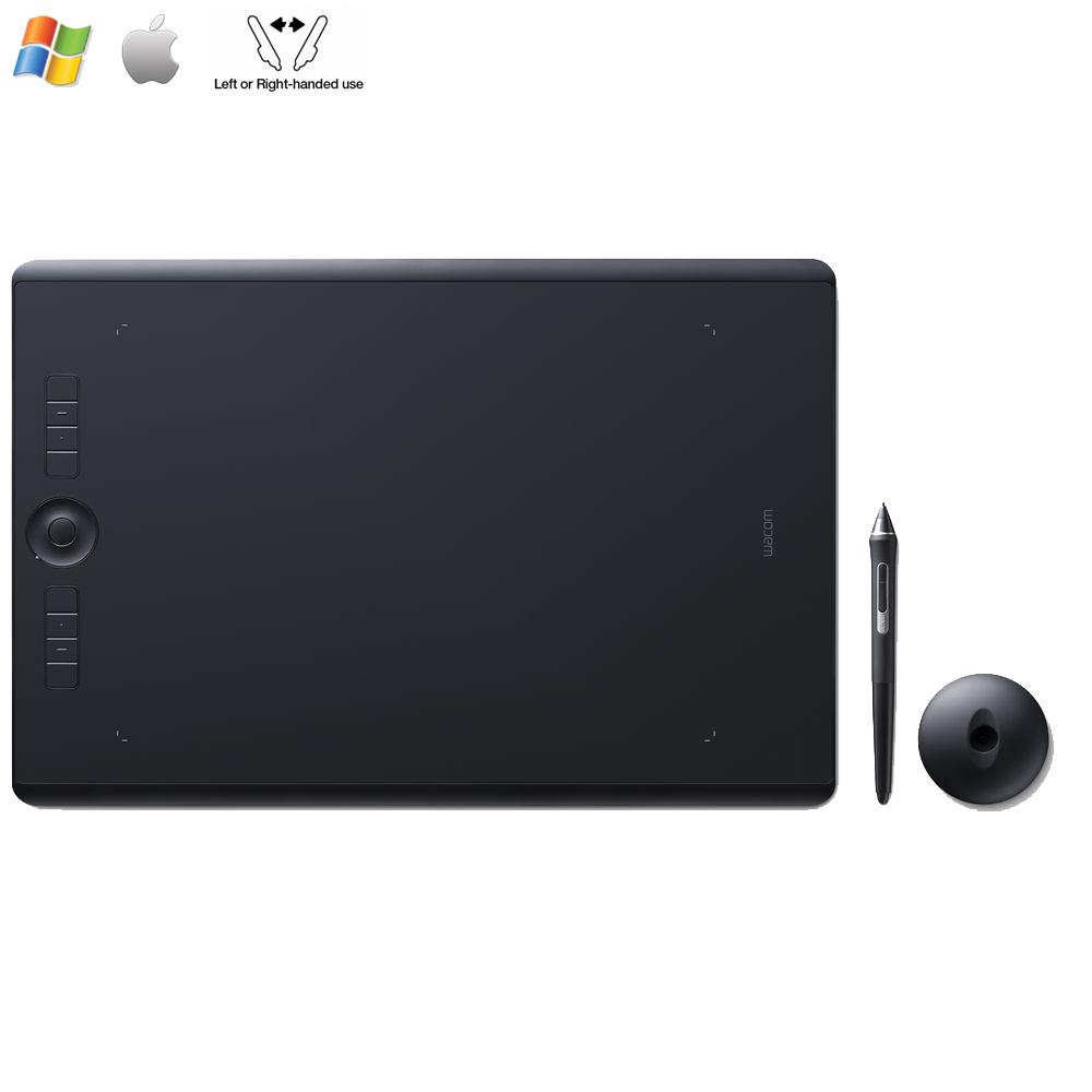Wacom Intuos Pro Medium Creative Pen Tablet,Black PTH660 (Certified Refurbished) by Wacom