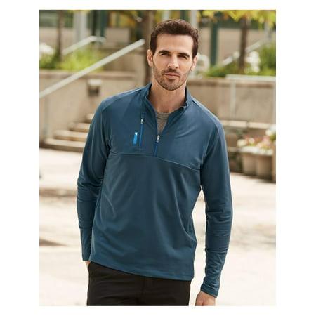 Adidas Golf Mixed Media Quarter-Zip Jacket Adidas Blue Court Jacket