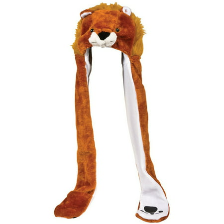 Plush Lion Hat Novelty Cap Animal Costume Beanie With Long Paws