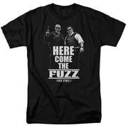 Hot Fuzz Here Come The Fuzz Mens Short Sleeve Shirt