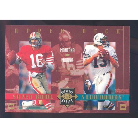 2003 Upper Deck Super Bowl Showdowns Lite/Tombstone #5 Joe Montana Dan (Did Dan Marino Ever Win A Superbowl)