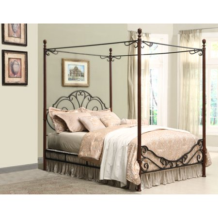 adison metal queen canopy bed - Iron Canopy Bed Frame