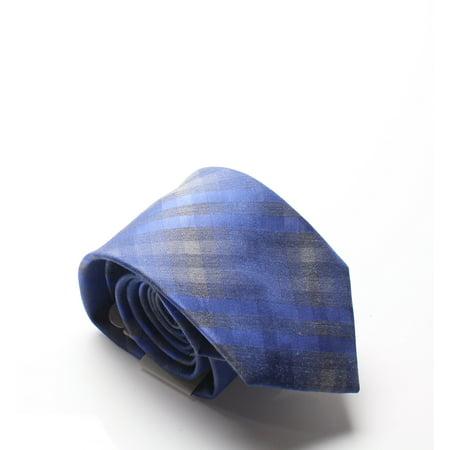 Check Necktie - Blue Heather Ombre Checks Men's Neck Tie $55 Not Applicable