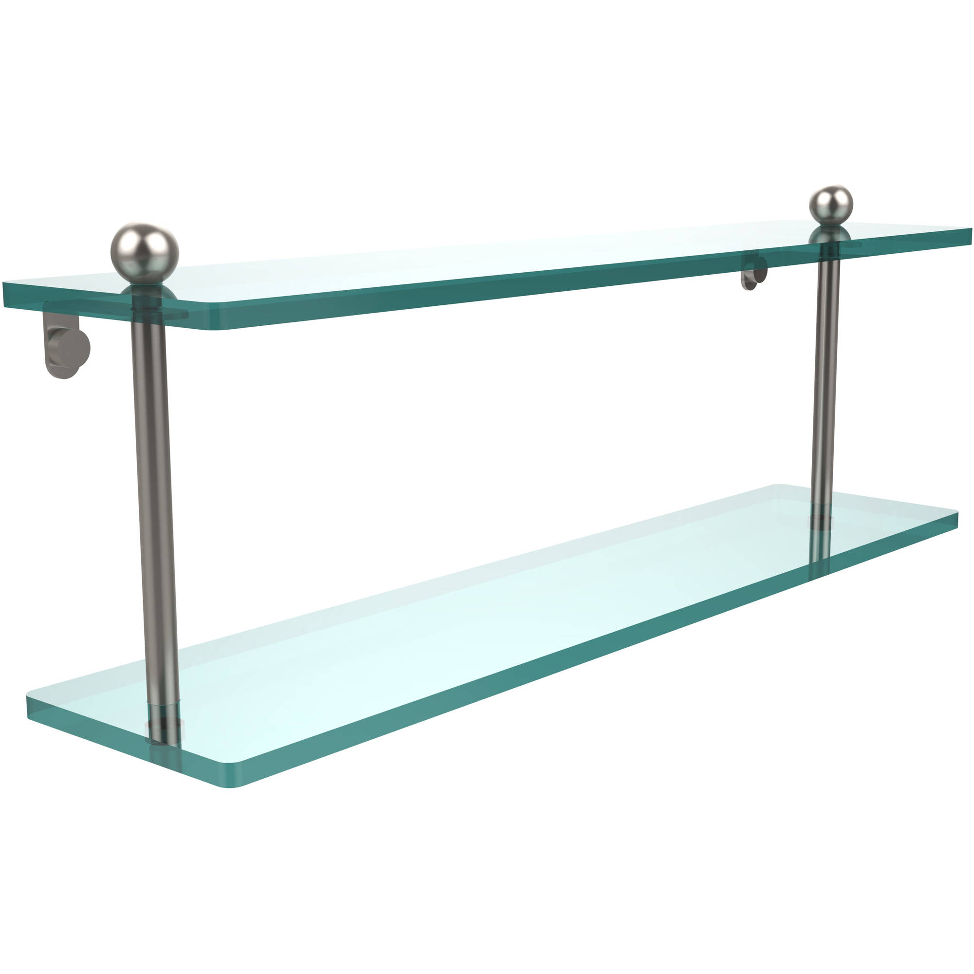 """22"""" 2-Tiered Glass Shelf (Build to Order)"""