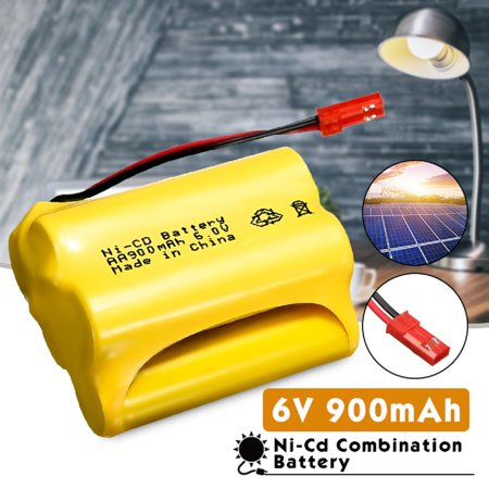 6V 900mAh JST-SYP Plug Ni-Cd AA Rechargeable Battery Pack For RC Racing Remote Control Car Toy Led Solar Power