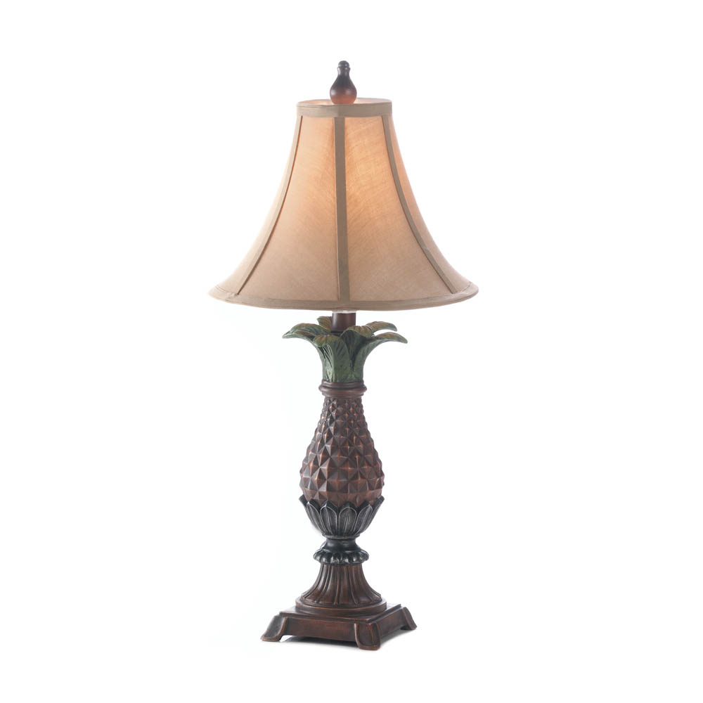 Elegant Side Table Lamp, Small Vintage Table Lamps For Bedroom, Rustic Pineapple  Lamp