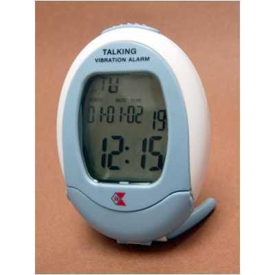 Vibrating & Talking Travel Alarm Clock, Vibrating and Talking Alarm Clock By ILA Ship from -
