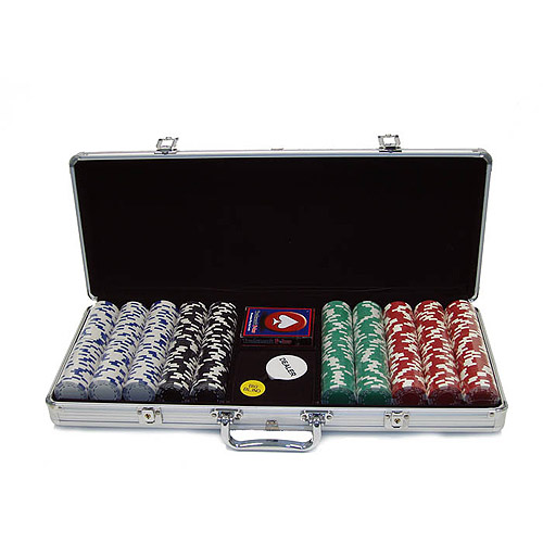 Trademark Poker 500pc 11.5g Royal Suited Chips with Aluminum Case